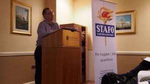 Leder Jon Arne Karlsen åpnet representantskapsmøtet
